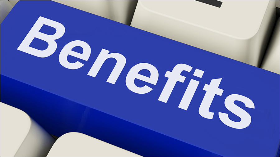 Benefits Key On Keyboard Meaning Advantage Or Reward